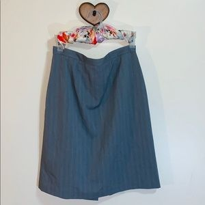 Jaclyn Smith   Gray Midi Fitted Pencil Skirt